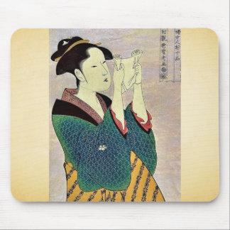 Mujer que lee una letra por Kitagawa, Utamaro Ukiy Tapete De Ratones