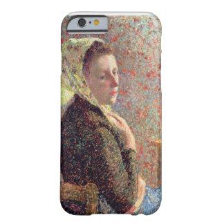 Mujer que lleva un pañuelo verde, 1893 funda para iPhone 6 barely there