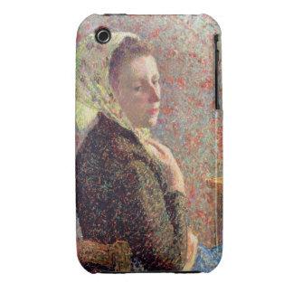 Mujer que lleva un pañuelo verde, 1893 iPhone 3 Case-Mate cárcasa