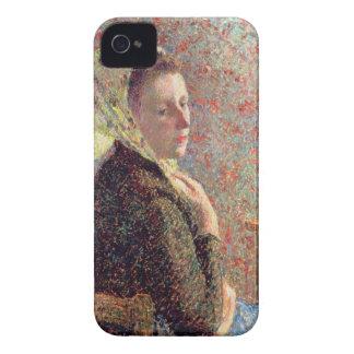 Mujer que lleva un pañuelo verde, 1893 iPhone 4 Case-Mate coberturas