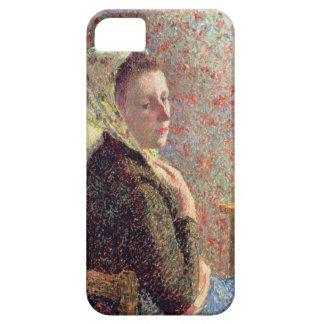 Mujer que lleva un pañuelo verde, 1893 iPhone 5 fundas
