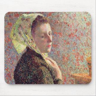 Mujer que lleva un pañuelo verde, 1893 mousepads