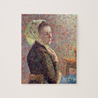Mujer que lleva un pañuelo verde, 1893 puzzle