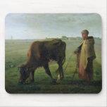 Mujer que pasta su vaca, 1858 alfombrilla de ratón