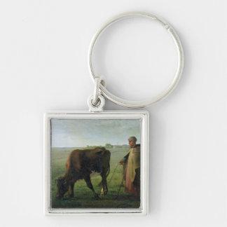 Mujer que pasta su vaca, 1858 llaveros