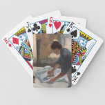 Mujer que plancha, c.1876-87 (aceite en lona) cartas de juego