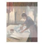 Mujer que plancha por Edgar Degas Tarjetas Publicitarias