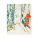 Mujer que pone en los esquís - Skidloperskan Lienzo Envuelto Para Galerias