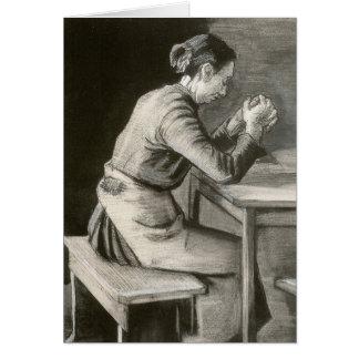 Mujer que ruega, Vincent van Gogh Tarjetas