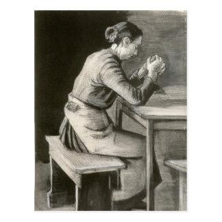Mujer que ruega, Vincent van Gogh Postal