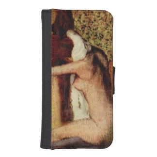Mujer que se seca el cuello de Edgar Degas Carteras Para Teléfono