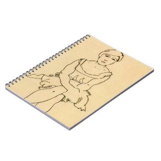 Mujer que se sienta de Egon Schiele- Libros De Apuntes
