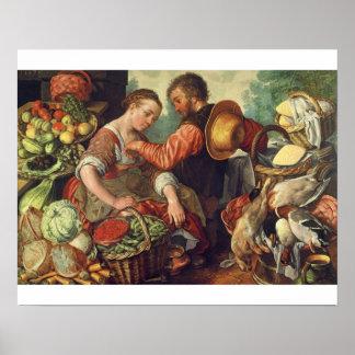 Mujer que vende las verduras 1567 aceite en lona impresiones