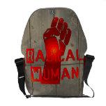 Mujer radical bolsa de mensajeria