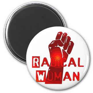 Mujer radical imán redondo 5 cm