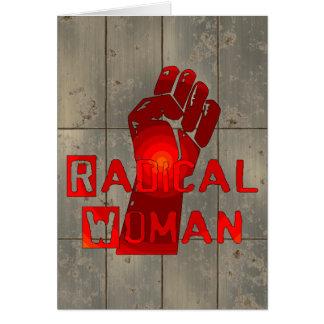 Mujer radical tarjeta pequeña