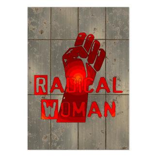 Mujer radical tarjetas de visita grandes