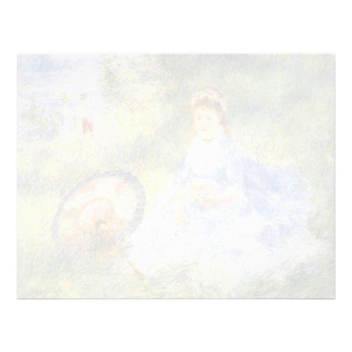 Mujer Renoir-Joven de Pedro con un paraguas japoné Membrete Personalizado