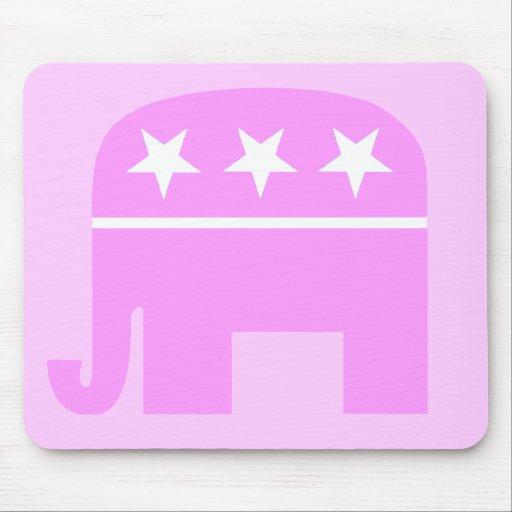 Mujer republicana Mousepad Tapete De Ratones