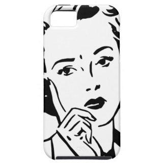 Mujer retra de los años 50 del dibujo animado funda para iPhone 5 tough