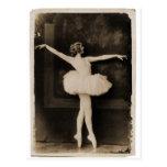 Mujer retra del bailarín de ballet de las mujeres  tarjeta postal