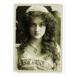 Mujer retra del retrato 20s de la sepia de las muj postales