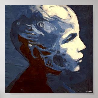 Mujer robótica impresiones