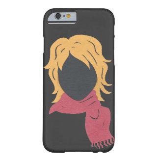 Mujer roja de la bufanda funda de iPhone 6 barely there