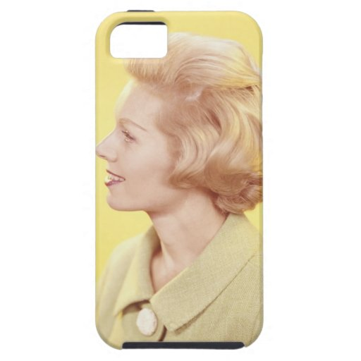 Mujer rubia 2 iPhone 5 carcasa