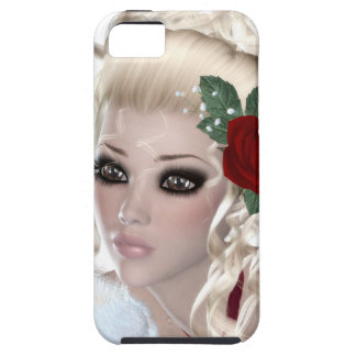 Mujer rubia iPhone 5 Case-Mate cárcasa