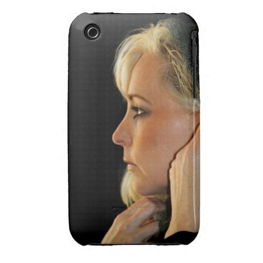 Mujer rubia iPhone 3 Case-Mate carcasa
