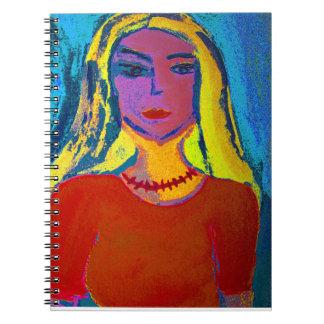 Mujer rubia Libreta (80 linierte lados S/W)