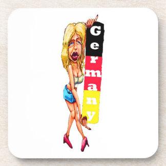 Mujer rubia, muro de Berlín, galería de la zona es Posavasos De Bebidas