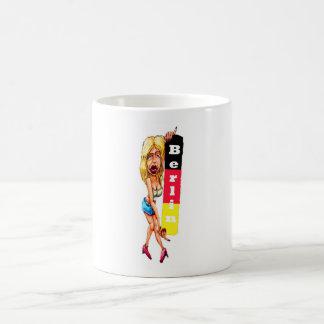 Mujer rubia, muro de Berlín, galería de la zona es Tazas De Café