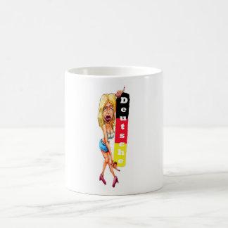 Mujer rubia, muro de Berlín, galería de la zona es Taza De Café
