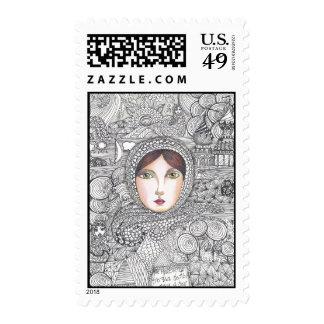 mujer rusa sellos