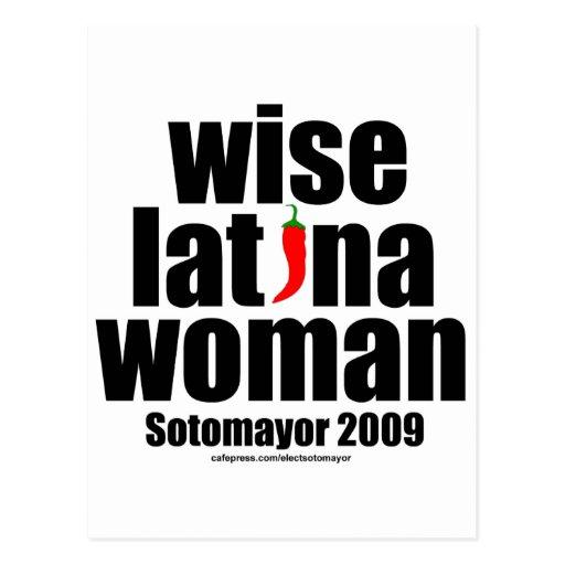 Mujer sabia de Sotomayor… Latina de la justicia Postales
