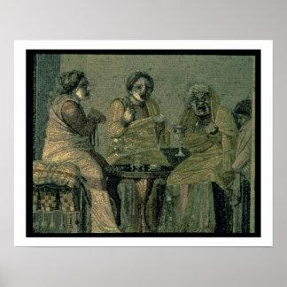 Mujer sabia y sus pacientes, del chalet Cicero Póster