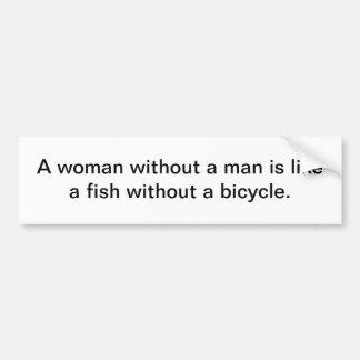 Mujer sin una pegatina para el parachoques del hom pegatina para auto