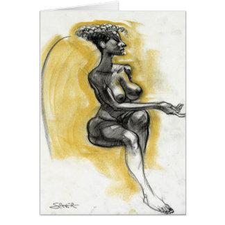 mujer tarjeta de felicitación