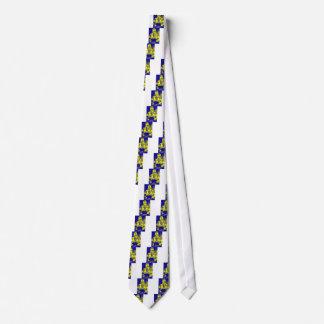 Mujer ucraniana de la bandera del vintage corbata