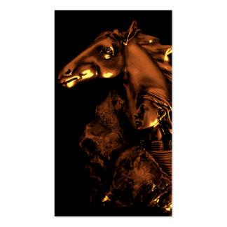 mujer y caballo del na tarjetas de visita