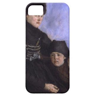 Mujer y Child1873 - 1874 de Dachau de Wilhelm Leib iPhone 5 Fundas