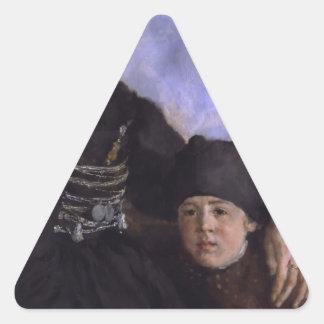 Mujer y Child1873 - 1874 de Dachau de Wilhelm Colcomanias De Triangulo