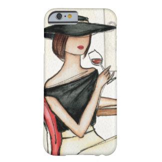 Mujer y copa de vino funda barely there iPhone 6