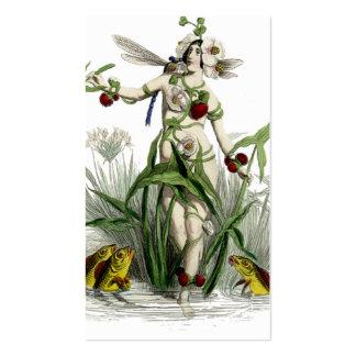 Mujer y criaturas caprichosas tarjetas de visita