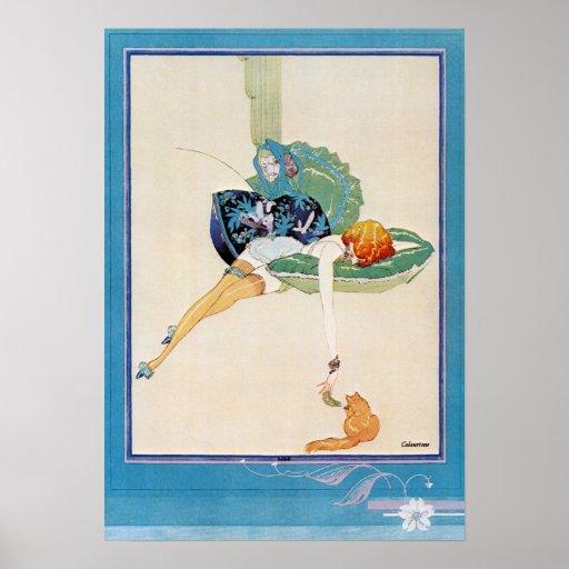Mujer y gato, Chéri Hérouard Posters