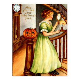 Mujer y linterna de Jack O Tarjetas Postales