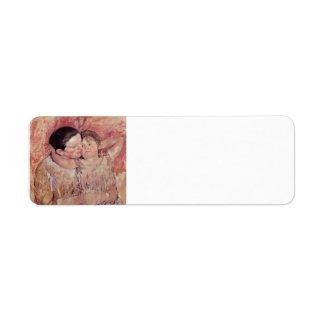 Mujer y niño de Maria Cassatt- Etiquetas De Remite
