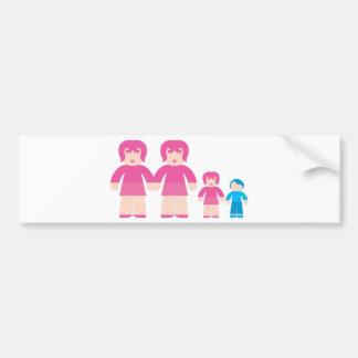 Mujer y niños de la mujer pegatina para auto